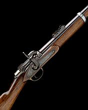 A RARE .451 PERCUSSION BREECH-LOADING SERVICE-RIFLE POSSIBLY FOR TRIALS, MODEL 'BENJAMIN'S PATENT', serial no. 714,