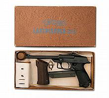 WALTHER, GERMANY A SCARCE BOXED .177 BREAK-BARREL SPRING-PISTON AIR-PISTOL, MODEL 'LP53 FIRST MODEL', serial no. 006447,