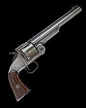 SMITH & WESSON USA A VERY RARE .44 (HENRY RIMFIRE) SIX-SHOT SINGLE-ACTION REVOLVER, MODEL 'No3 AMERICAN', serial no. 2709?,
