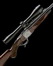 ORSI & ORSI (MILANO) A FABBRIZIOLI-ENGRAVED 7X65R FALLING-BLOCK SPORTING RIFLE, serial no. 9269,