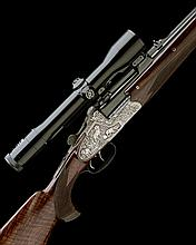 FRANZ SODIA (FERLACH) A 9.3X64mm DOUBLE-TRIGGER OVER AND UNDER SIDELOCK EJECTOR DOUBLE RIFLE, no. 23040, with extra 9.3x64 / .222Rem ba