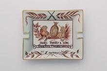 † JAMES PURDEY & SONS A NEW AND UNUSED PORCELAIN ASHTRAY BY LAURE SELIGNAC, PARIS