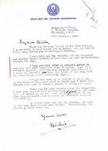 A SERIES OF EIGHT EARLY POST-WAR LETTERS FROM LORD LOUIS MOUNTBATTEN TO DEMPSEY,