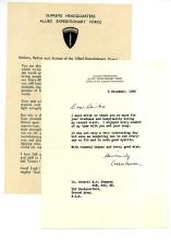 DEMPSEY'S COPY OF EISENHOWER'S ADDRESS ON THE EVE OF D-DAY,