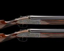 J. PURDEY & SONS A LITTLE USED PAIR OF KELLY-ENGRAVED 12-BORE DOUBLE-TRIGGER OVER AND UNDER SIDELOCK EJECTORS, serial no. 28231 / 2,