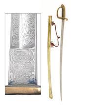 LANDON, MORELAND & LANDON, LONDON AN 1845/54 BRITISH INFANTRY OFFICER'S SWORD,