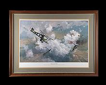 FRANK WOOTTON 'KNIGHTS OF THE SKY', A LIMITED EDITION GREAT WAR THEMED AVIATION PRINT,