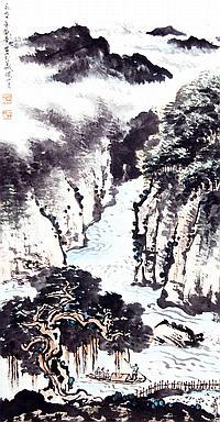 關山月 (1912 - 2000) 夏日江南 Guan Shanyue Summer Sails on the Pearl River