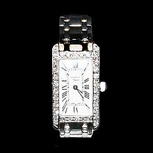 日內華白金鑲鑽石鏈帶腕錶 White Gold Ladies Geneve Supreme Diamond Wristwatch