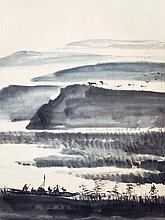 林風眠 (1900 - 1991) 蘆花邊上打漁船 Lin Fengmian Fishermen Bay