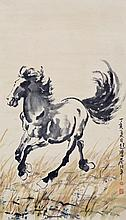 徐悲鴻 (1895 - 1953) 草原躍馬  Xu Beihong  Stallion
