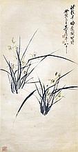 吳昌碩 (1844 - 1927) 蘭花四時 Wu Changshuo  Orchids