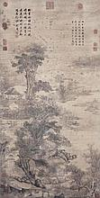 明 沈周 (1427 - 1509) 斜陽落釣船 Shen Zhou  Ming Dynasty Fishing at Dusk
