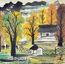 林風眠 (1900 - 1991) 金色的秋天 Lin Fengmian Golden Autumn