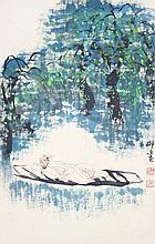 王明明 (b. 1952) 明朝散髮弄扁舟 Wang Mingming Tomorrow Will Come