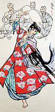 史國良 (b. 1956)維吾爾樂舞圖 Shi Guoliang  Uighur Dancer