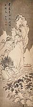 溥儒(心畲)(1896 - 1963)雪山閣樓圖 Pu Ru (Xin Yu)  Mountain Pavilion