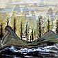 林風眠 (1900 - 1991) 雲山叢樹圖 Lin Fengmian  Tree Ridges