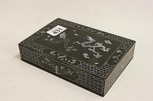 Papermache inlaid mother of pearl jewellery box