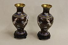 Pair of CloisonnÚ Vases on stands