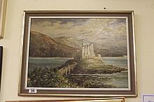 Framed oil on board of Eieleen Castle Signed N.M.Lay