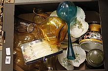 Mixed box of glass and china ware
