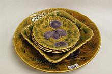 Five French Dishes and Plates with fruit design