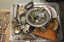 Large mixed box of china and glassware