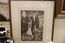 Framed and glazed Watercolour and Pencil signed John 1905