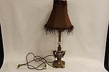 Metal and Marble Lamp base with shade