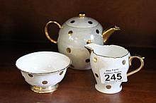 Shelley Teapot, Sugar bowl and Milk Jug