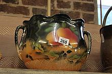China Glazed Pot with fruit design