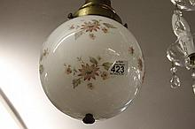 Victorian hand painted glass Ceiling Light