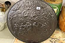 Circa 1880 Wrought Iron Large Shield Marked Manufactored by Booth & Brooke