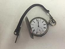 Full Hunter Gentlemens Silver Pocket Watch