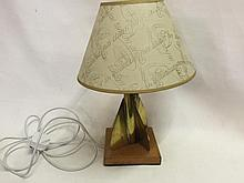 Trench Art lamp with shade