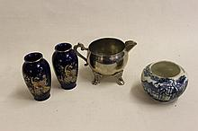Collection of China and pewter ware