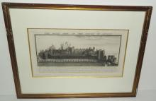 The West View of the Tower of London Engraving