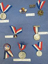 A small collection of Coronation medals and momentoes of other Royal occasions including Queen Victoria's Jubilee (1887 and 1897) Edward VII Coronation, George V Silver Jubilee and George VI Coronation. (Six items).