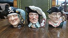 Three Royal Doulton character jugs, Nightwatchman