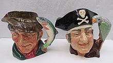 Royal Doulton novelty jugs 'Long John Silver'