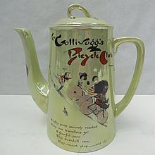 A cauldron lustre coffee pot with Florence Upton