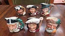 Six Royal Doulton small character jugs, Porthos,