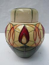 A Moorcroft ginger jar and cover decorated with