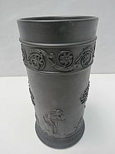 An early Wedgwood black basalt vase