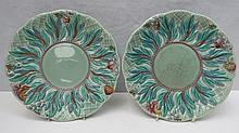 A pair of Royal Staffordshire plates designed by