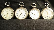 A Swiss pocket watch in silver (825), case