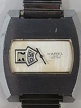An unusual digital watch as made by Harel with 17