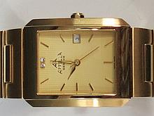 An Appella yellow metal gents wrist watch with