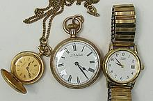 A small collection of watches to include a gold